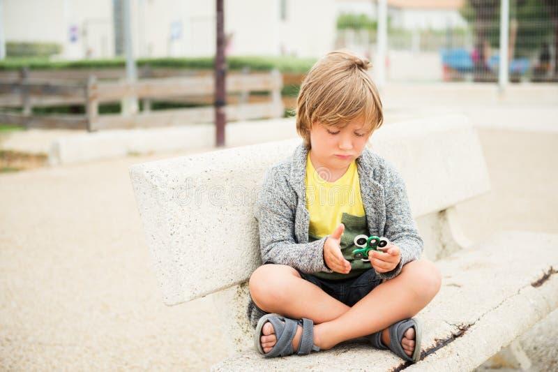 Very sad kid stock image