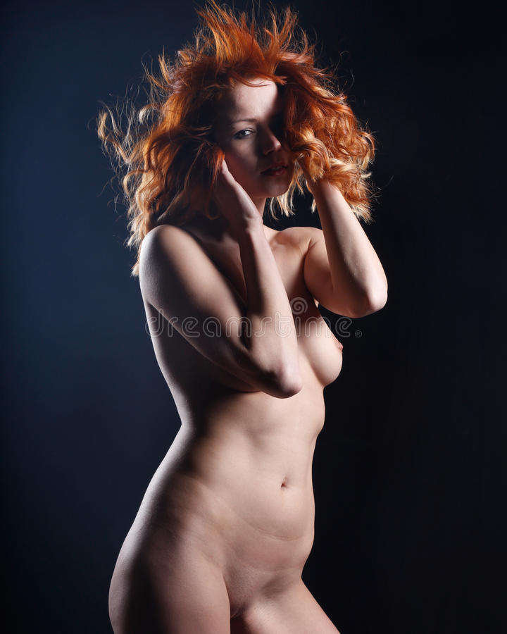 Download Very Beautiful Nude Or Naked Woman With Red Hair Stock Image - Image: 30036903