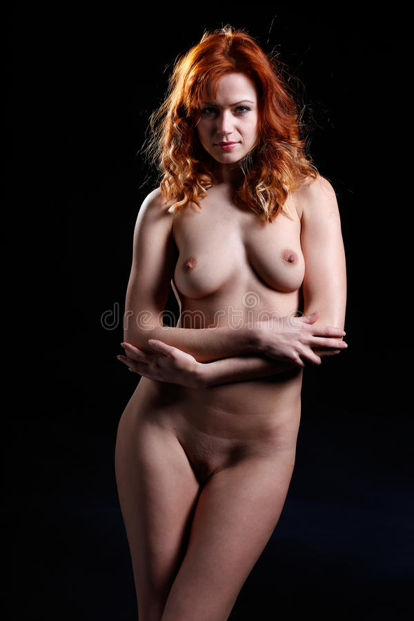 hot dark red haired girl naked