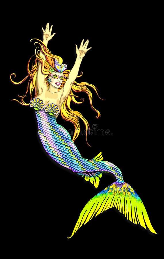 Very mermaid vector illustration