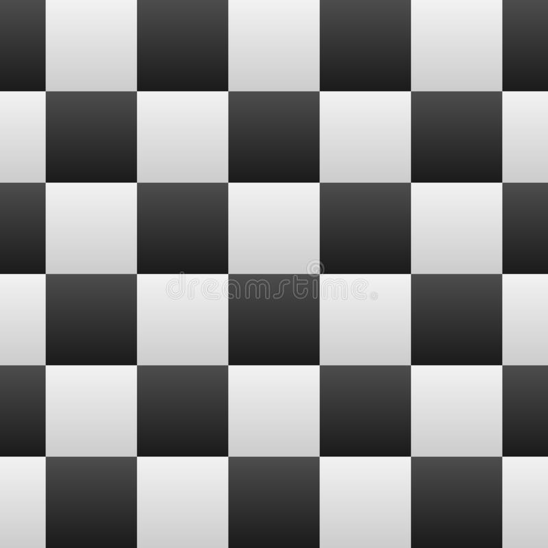 Black and White Gradients Checkered Seamless Repeating Pattern Background Vector Illustration royalty free illustration