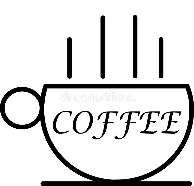 Very Simple Coffee Icon and Logo vector illustration