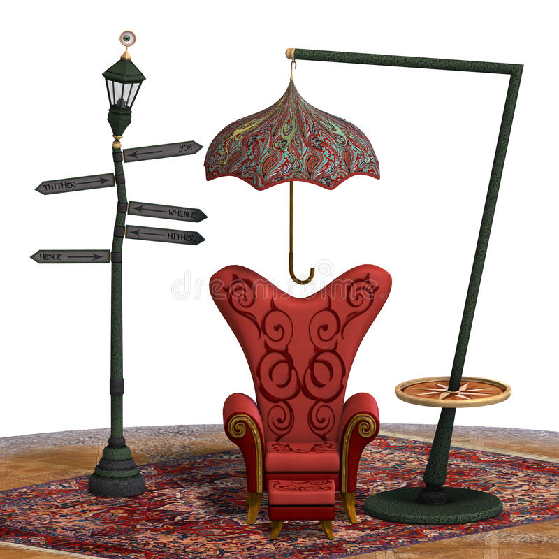 Free Very Surreal Rendering Of A Chair With Funny Royalty Free Stock Images - 18531679