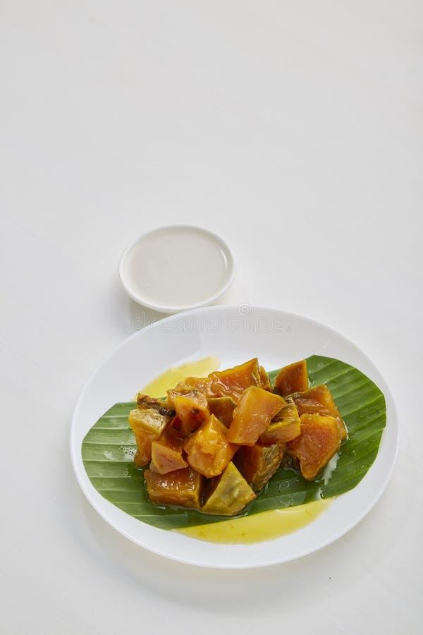 Thai sweet food pumpkin royalty free stock image