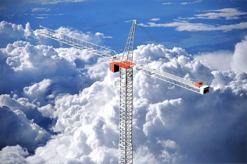 Very tall crane vector illustration