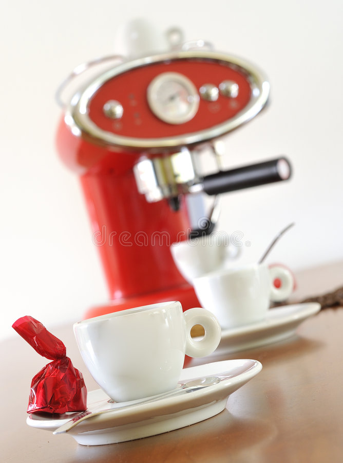 Free Very Tasteful Espresso With Coffee Maker Royalty Free Stock Photos - 7899218