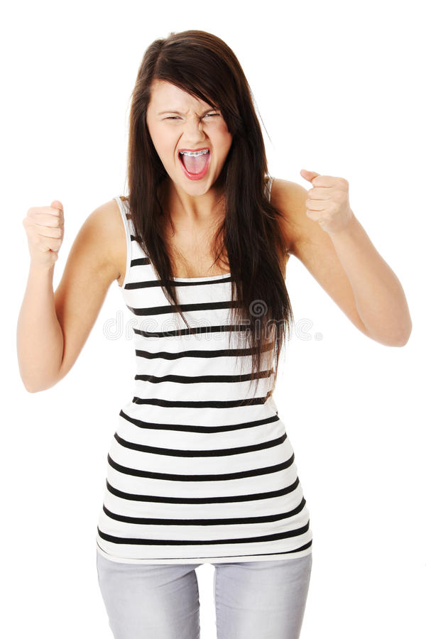 Very Upset And Angry Woman Stock Images