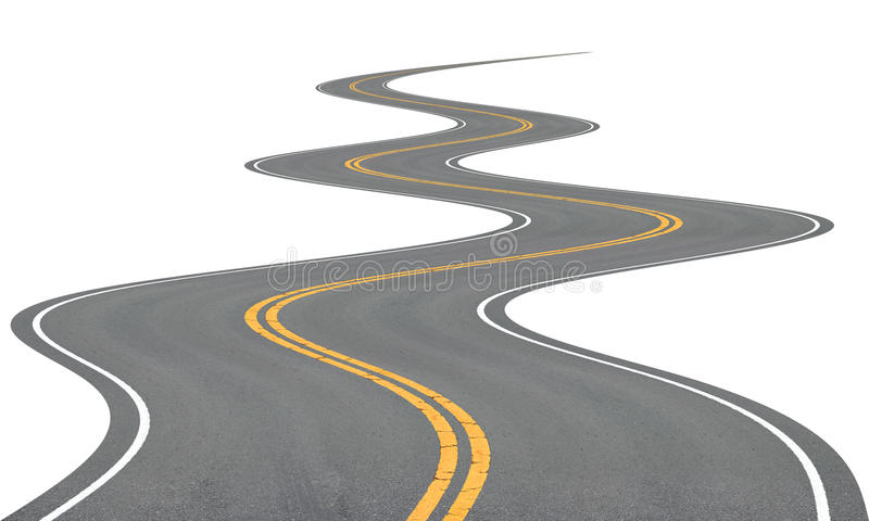 Very winding road. Very winding road, disappearing into the distance royalty free illustration