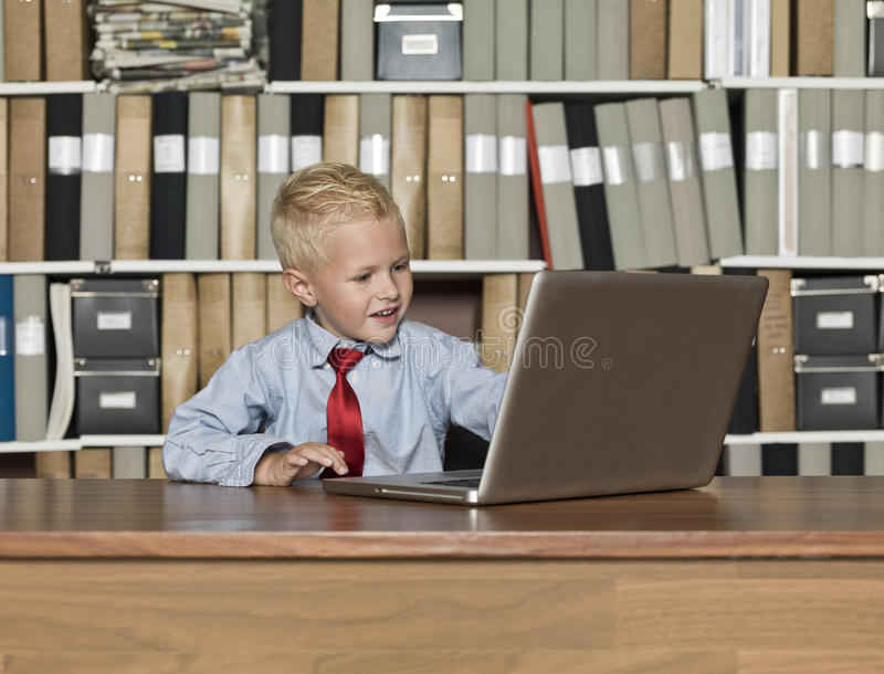 Very young Businessman royalty free stock photography