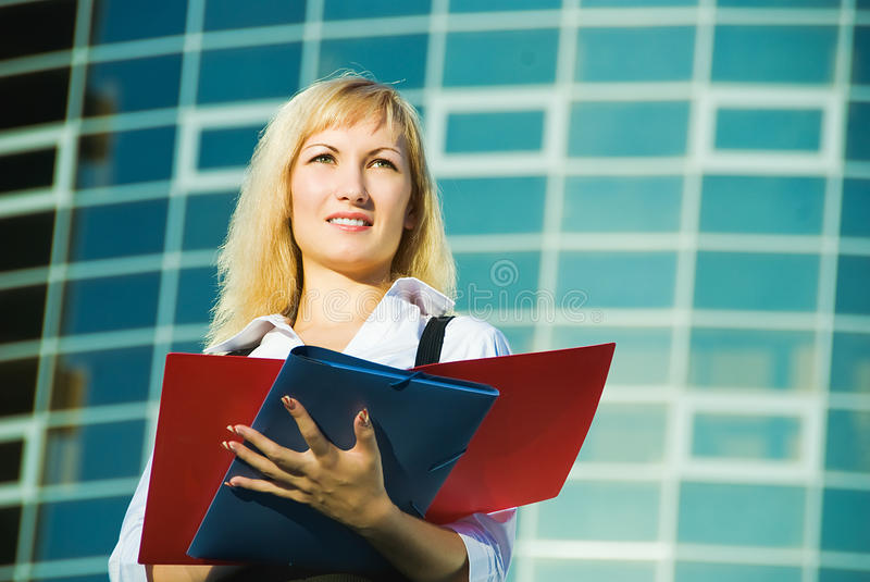 Very young manager royalty free stock photos