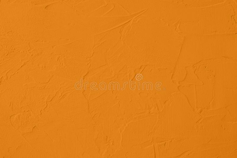 verzadigde gele gekleurde lage contrast Concrete geweven achtergrond met ruwheid en onregelmatigheden stock fotografie