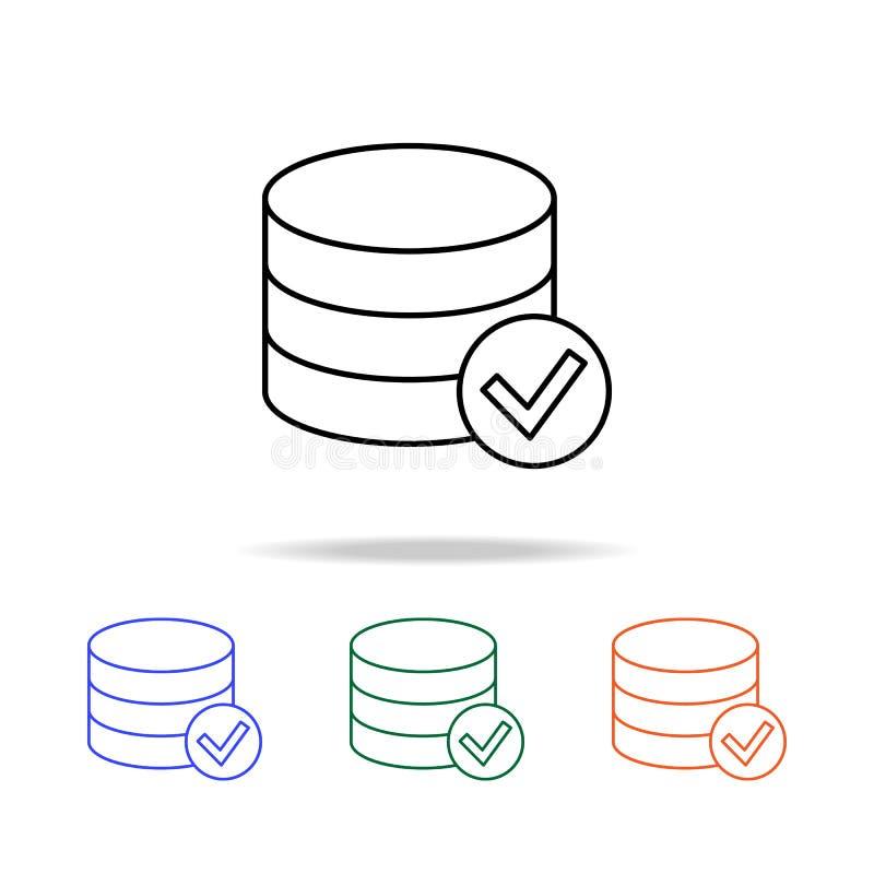verzamelde muntstukken en gecontroleerd tekenpictogram Elementen van eenvoudig Webpictogram in multikleur Grafisch het ontwerppic vector illustratie