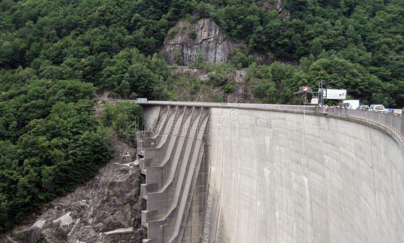 Verzasca tama 007 skok Kanton Ticino Szwajcaria obraz stock