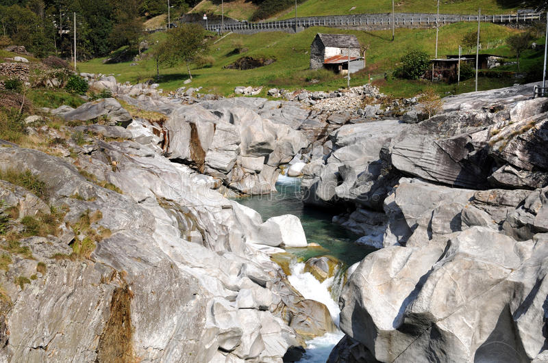 Download Verzasca valley stock photo. Image of riverbank, blue - 16646572