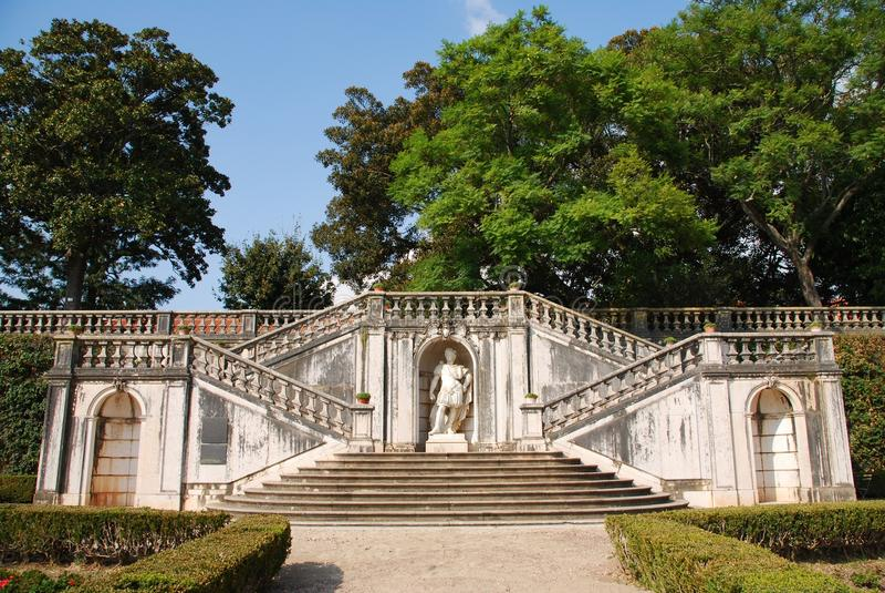 Verzauberter Ajuda Garten in Lissabon, Portugal lizenzfreies stockfoto