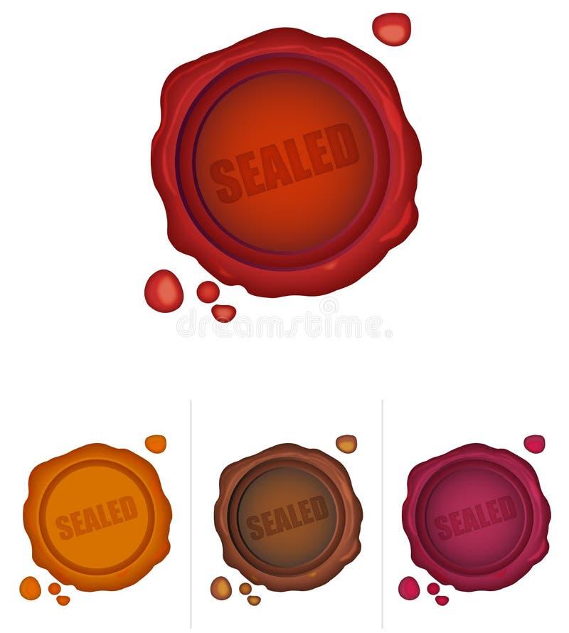 Verzegeld vector illustratie