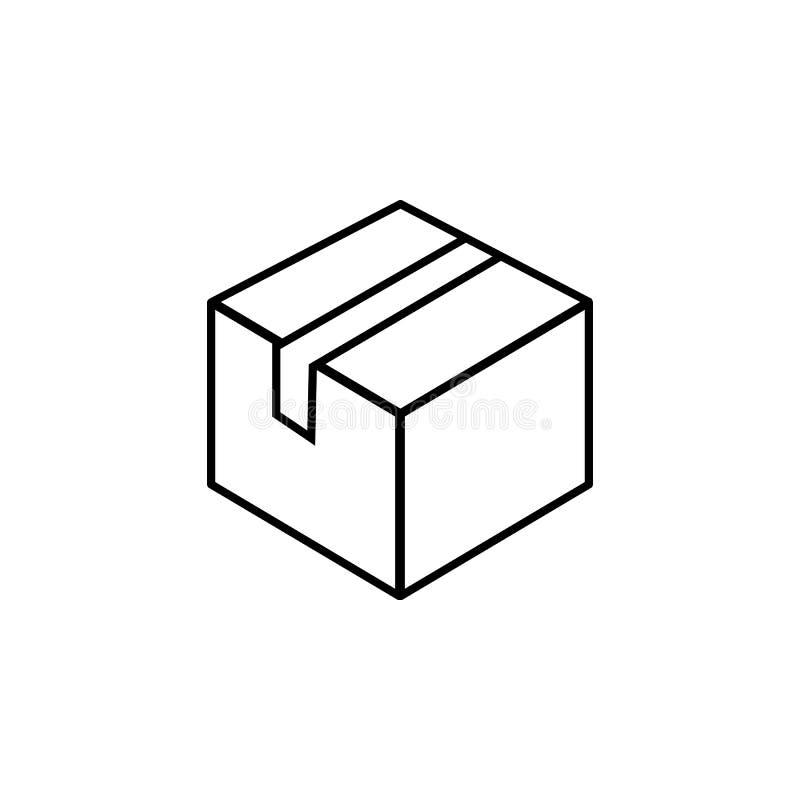 Verzegeld doospictogram Element van eenvoudig pictogram voor websites, Webontwerp, mobiele app, informatiegrafiek Dun lijnpictogr vector illustratie