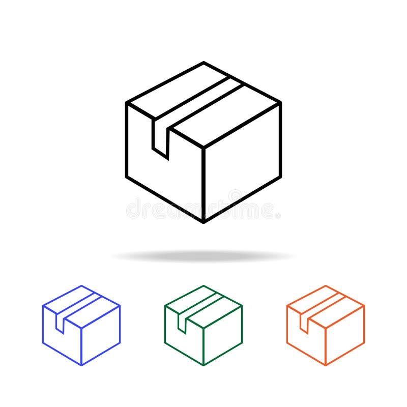 Verzegeld doospictogram Elementen van eenvoudig Webpictogram in multikleur Grafisch het ontwerppictogram van de premiekwaliteit E royalty-vrije illustratie