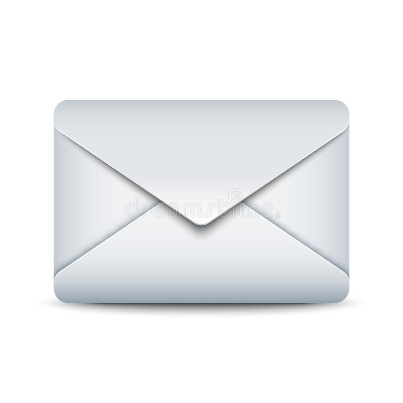 Verzegeld enveloppictogram, vectorillustratie stock illustratie