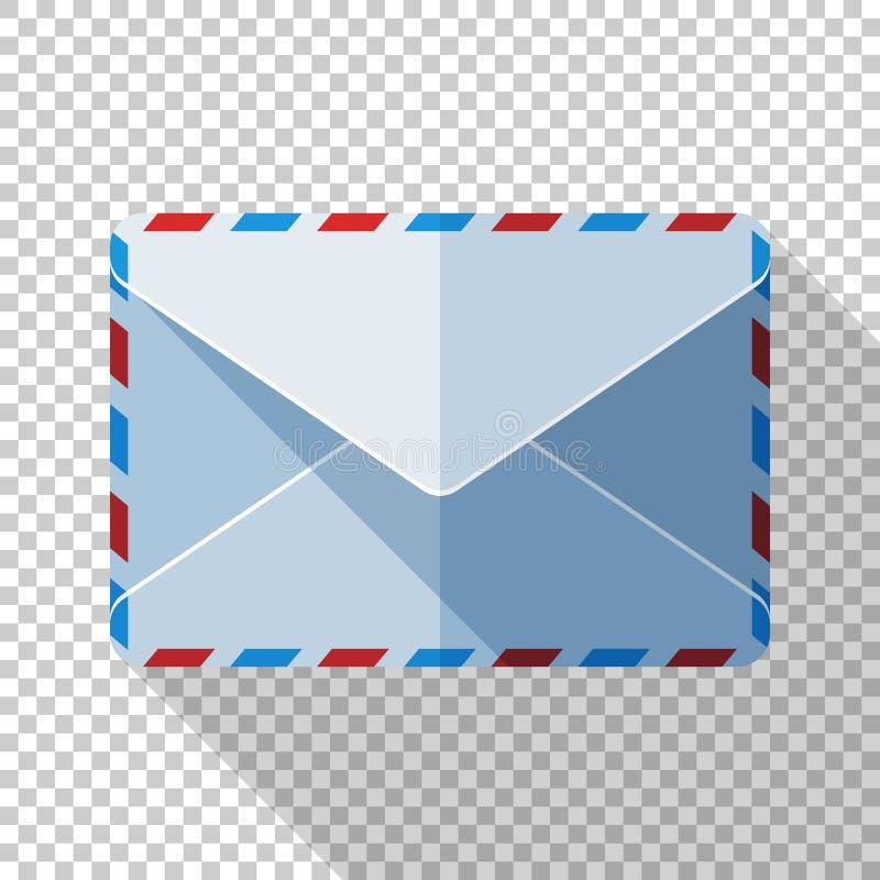 Verzegeld enveloppictogram in vlakke stijl op transparante achtergrond vector illustratie