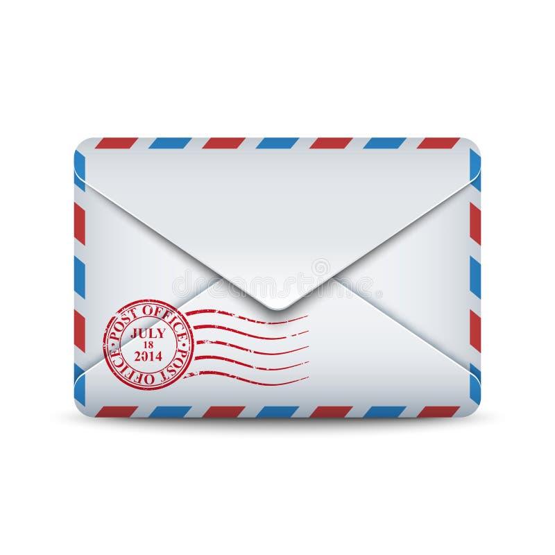 Verzegeld enveloppictogram, voorraadvector vector illustratie