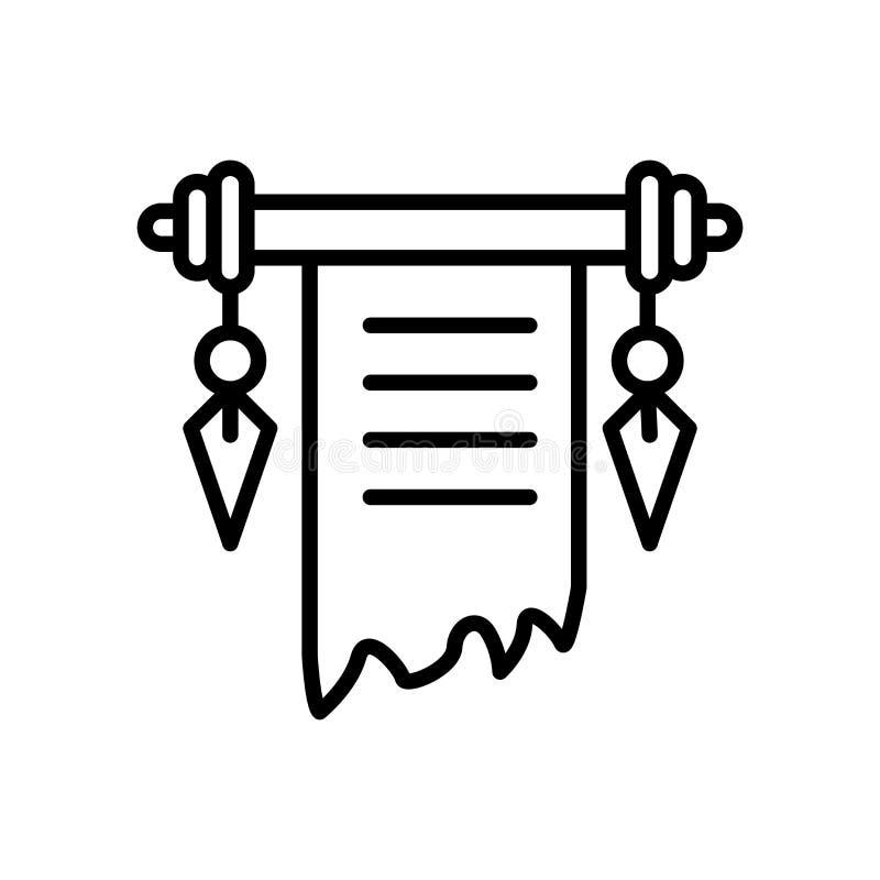 Verzeichnen Sie den Ikonenvektor in einer liste, der auf weißem Hintergrund, Rollenzeichen lokalisiert wird vektor abbildung