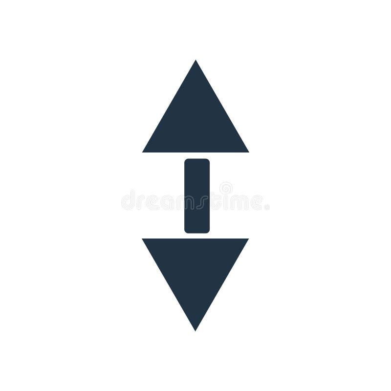 Verzeichnen Sie den Ikonenvektor in einer liste, der auf weißem Hintergrund, Rollenzeichen lokalisiert wird stock abbildung