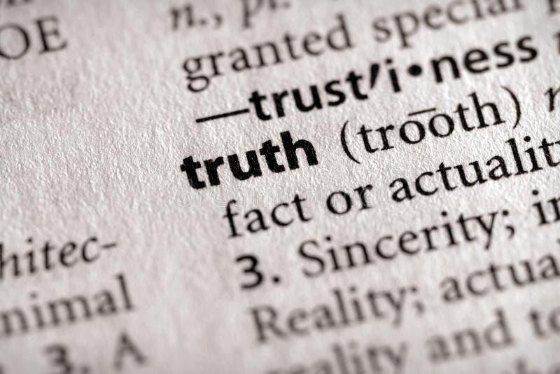 Verzeichnis-Serie - Philosophie: Wahrheit lizenzfreie stockbilder