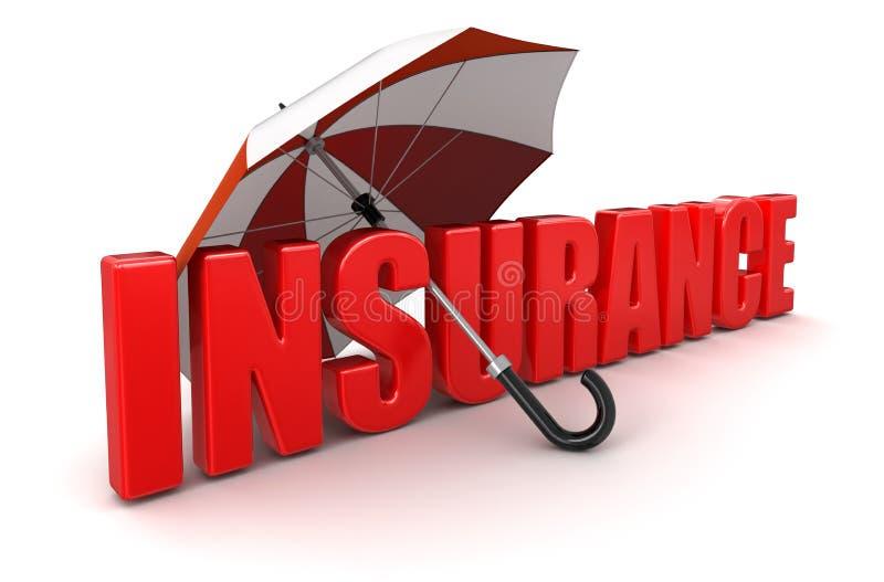 Verzekering onder Paraplu (het knippen inbegrepen weg) vector illustratie