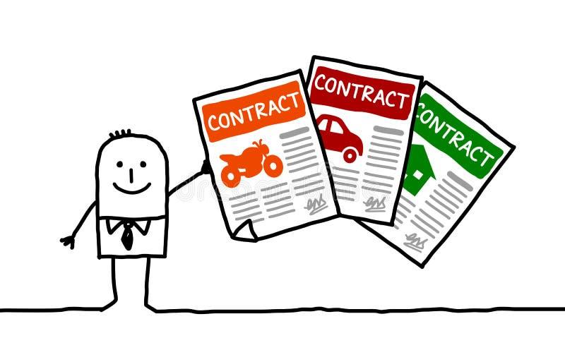 Verzekeringscontracten vector illustratie