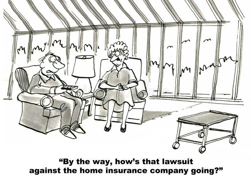 Verzekeringsmaatschappij en Proces royalty-vrije illustratie