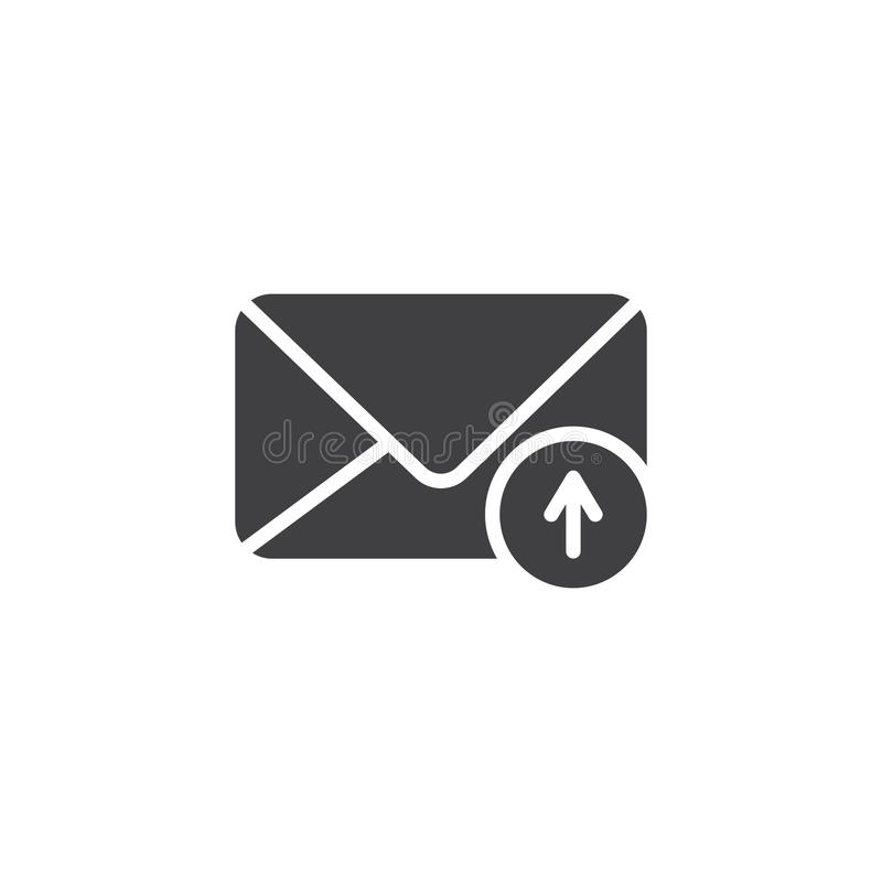 Verzend e-mail vectorpictogram vector illustratie