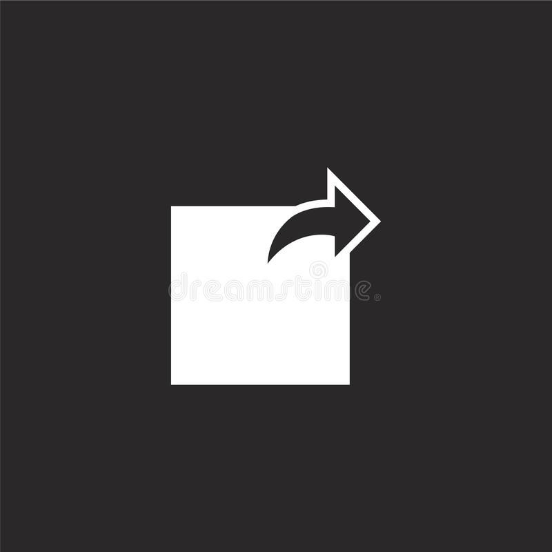 verzend pictogram Gevuld verzend pictogram voor websiteontwerp en mobiel, app ontwikkeling verzend pictogram van gevulde essentië vector illustratie