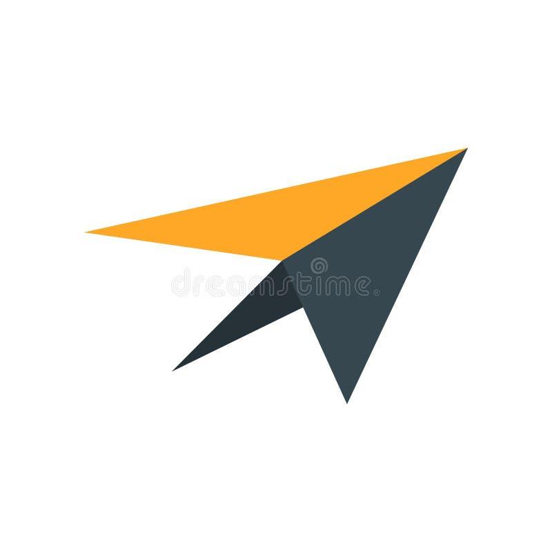 Verzend pictogram vectordieteken en het symbool op witte achtergrond wordt geïsoleerd, verzendt embleemconcept royalty-vrije illustratie
