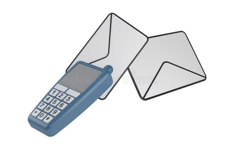 Verzend sms royalty-vrije stock fotografie