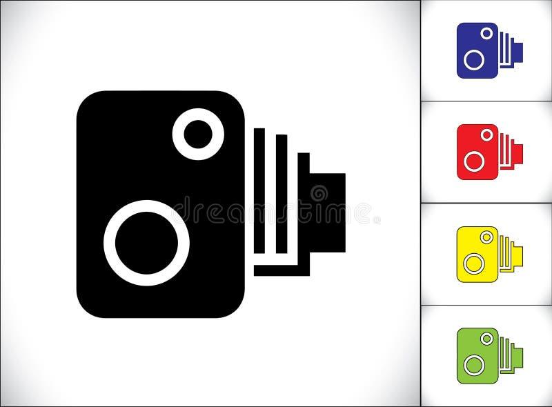 Verzendende Auto over de Camera van de maximum snelheidopsporing stock illustratie