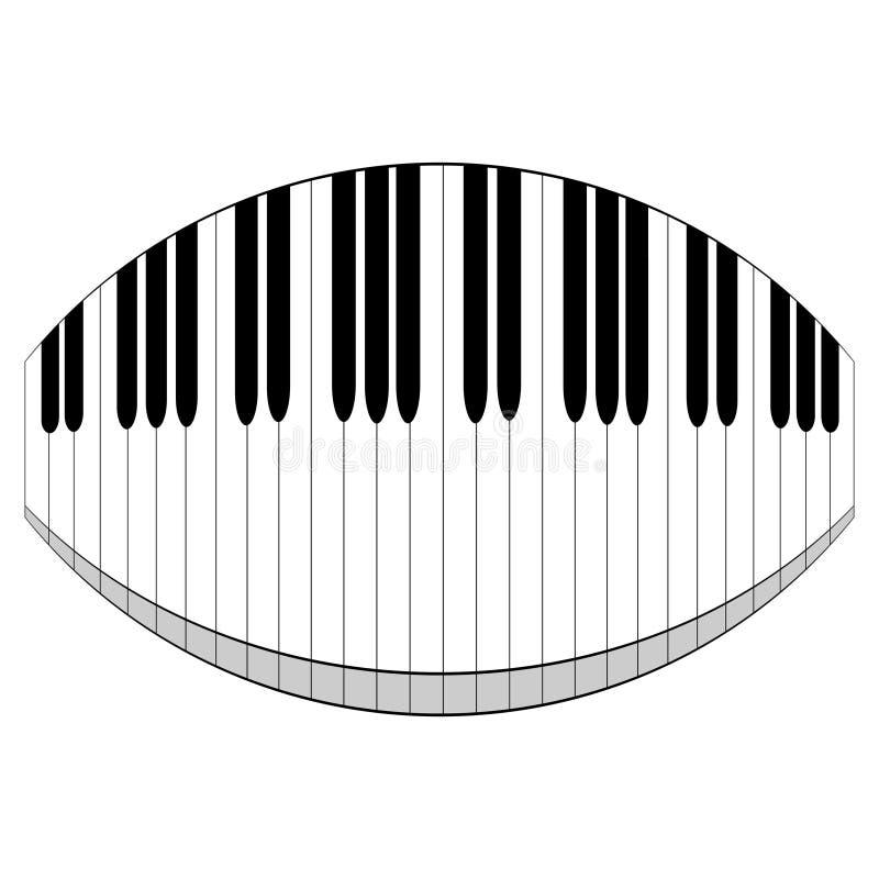 Verzerrte Tastatur lizenzfreie abbildung