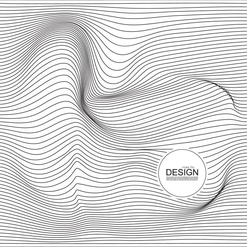Verzerrte Wellenmonochrombeschaffenheit lizenzfreie abbildung