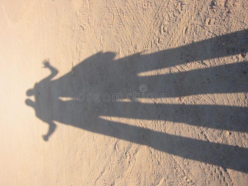 Verzerrter Schatten lizenzfreies stockbild