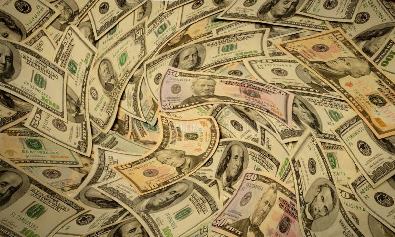 Verzerrtes amerikanisches Banknotebargeldgeld lizenzfreie stockfotos