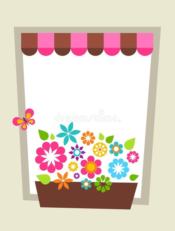 Verzierte geformte Kartenschablone des Fensters stock abbildung