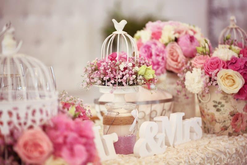 Verzierte wedding Tabelle stockfoto