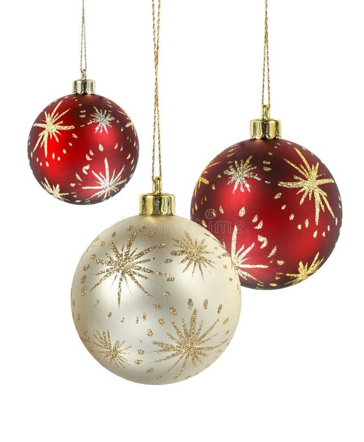 Verzierte Weihnachtskugeln stockbilder