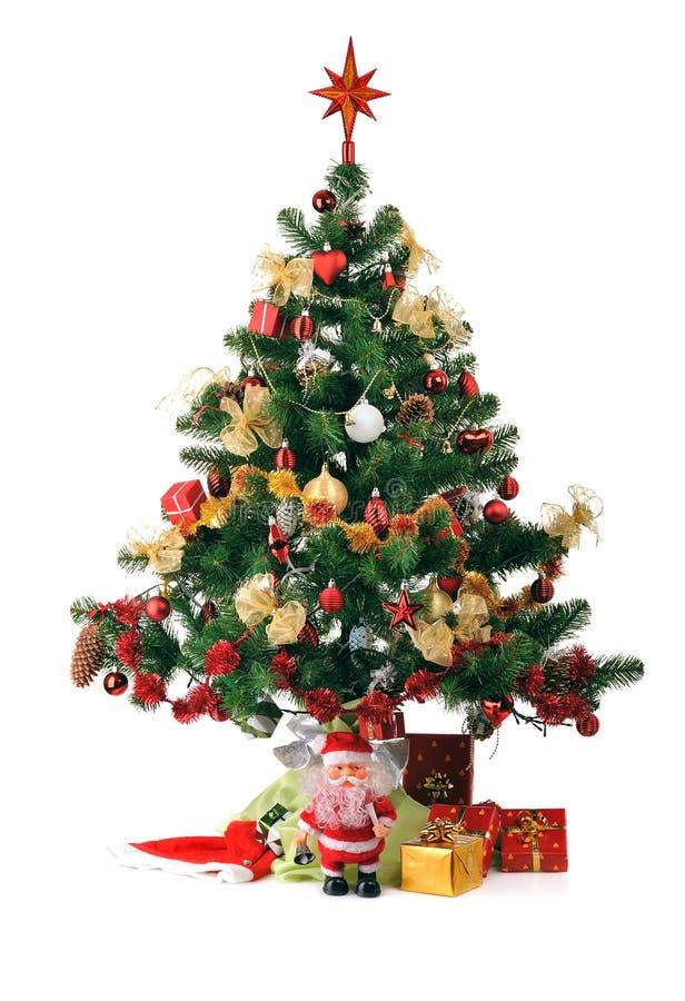 Verzierte Weihnachtstanne stockfoto