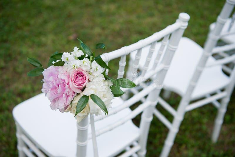 Verzierter Heiratsstuhl Formal, Heirat lizenzfreies stockbild