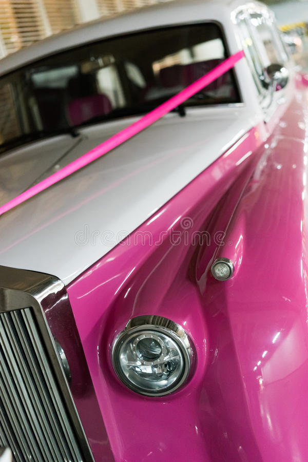 Verziertes Wedding Auto lizenzfreies stockbild