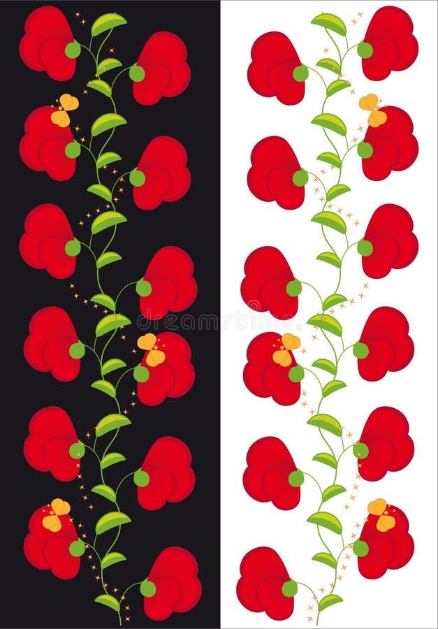 Verzierung der Blumeninnerer und -basisrecheneinheiten stock abbildung