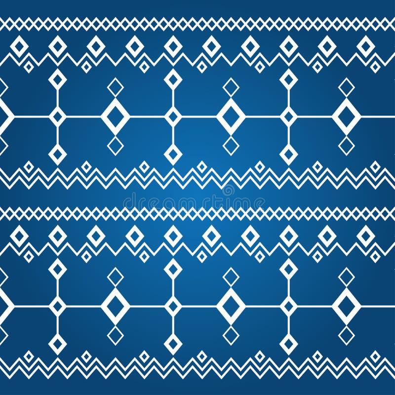 Verzierung der weißen Rauten (nahtloses Muster) vektor abbildung