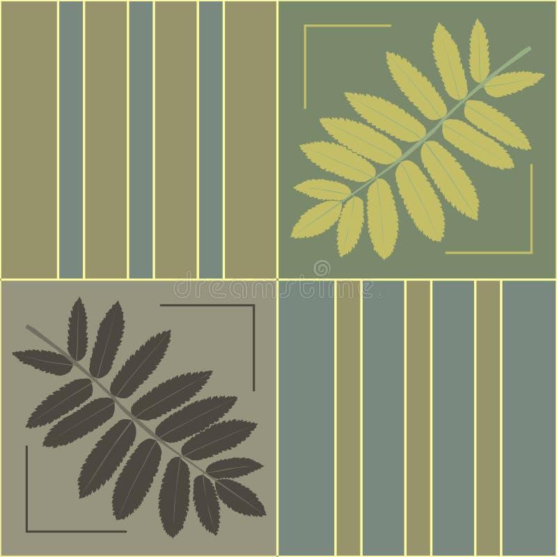 Verzierung mit Blättern lizenzfreie stockfotos