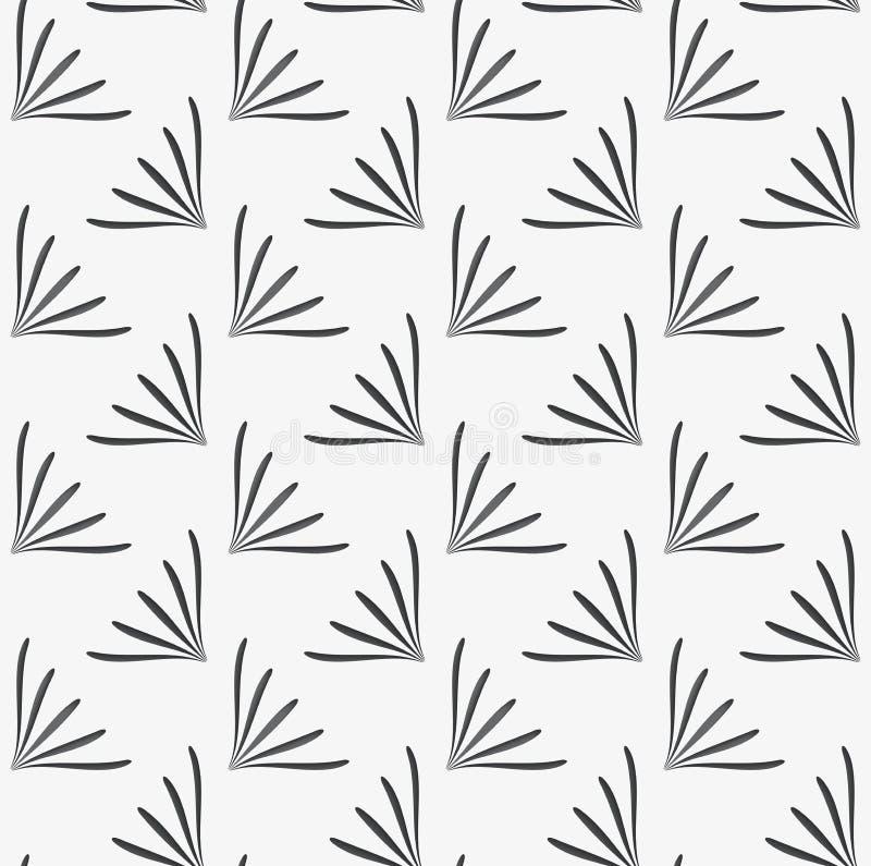 Verzierung mit geometrischen perforierten Blumenformen auf weißem backgr vektor abbildung